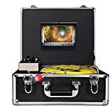 Pipe Pipeline Inspection Camera,Anysun 50m-165FT Cable Drain Sewer Industrial Endoscope Waterproof IP68 with 7 Inch Lcd Monitor Dvr Record-8GB SD Card (Tamaño: 165FT)