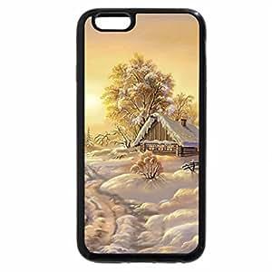 iPhone 6S / iPhone 6 Case (Black) Winter scene