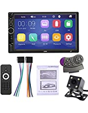 ePathChina 7 Inch 2 DIN Bluetooth in Dash Touch Screen Car Video FM Radio Stereo Player with Steering Wheel Remote Control/Night Vision Rear View Camera Support Mirror Link