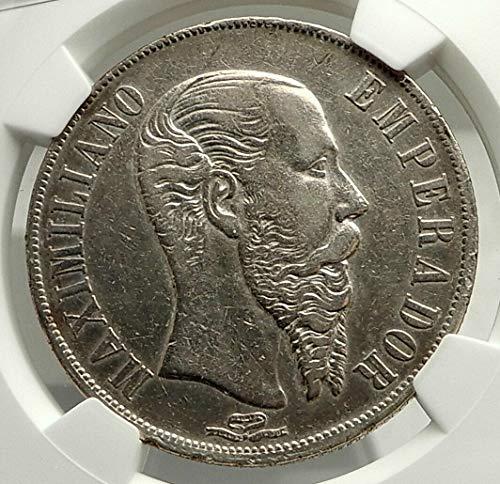 1866 MX 1866 MEXICO Empire of Emperor MAXIMILIAN I AR Pes coin XF DETAILS NGC