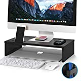 1home Monitor Stand Riser, 16.7 Inch Wood Monitor