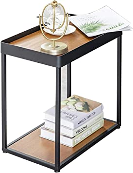 Small Wooden Side End Table Open Storage Display Shelf Living Room Furniture NEW