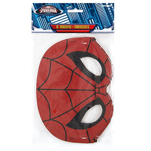 Spiderman Party Masks, 8ct -