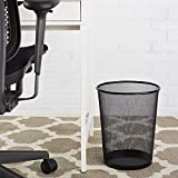 Wanrane Superior Material Mesh Wastebasket Trash Can Round Trash Can Recycling Bin Bathroom Mesh Round Wastebasket (Color : 26.5x28cm)