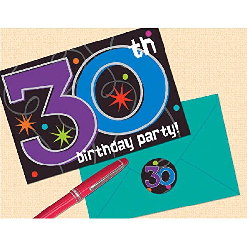 Amscan The Party Continues - 30'' Invitations, Birthday, 96 Ct.