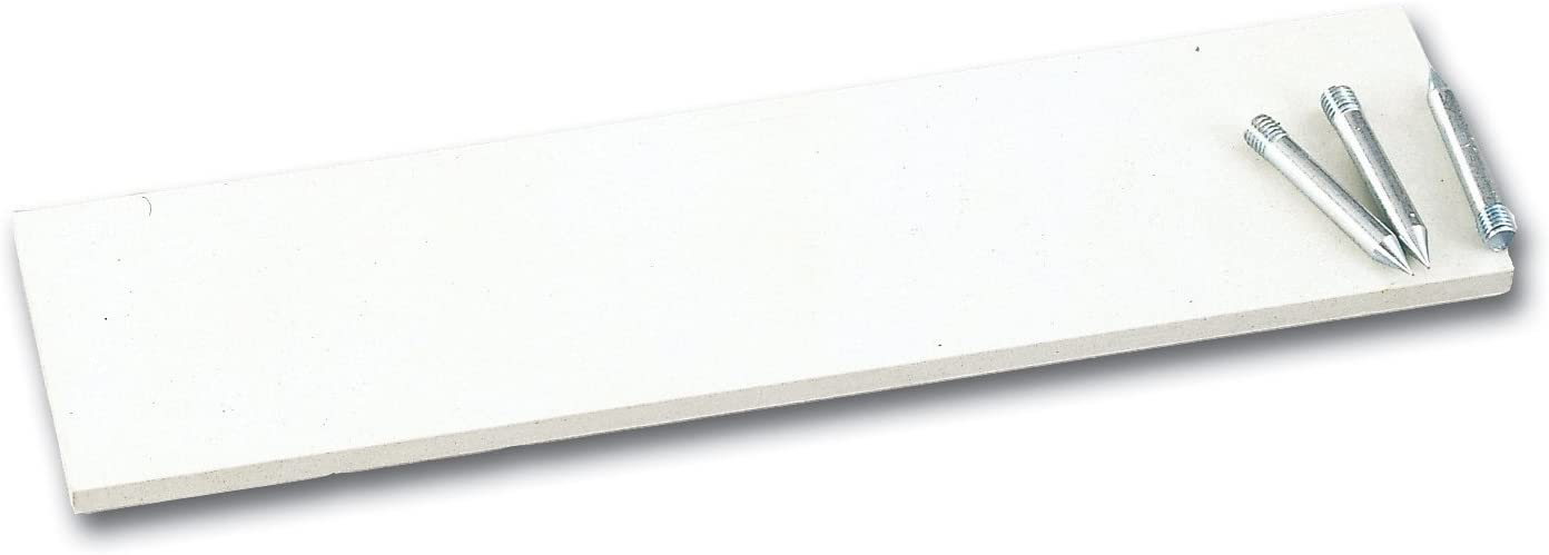 """Champion Sports Official Size Pitcher's Plate with Metal Spikes, White, 24"""" x 6"""" x 1"""" (80)"""