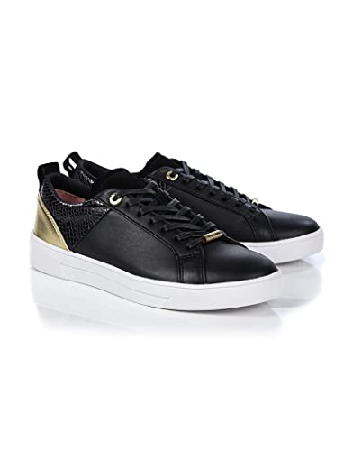 presenting shoes for cheap special sales Ted Baker Women's Kulei Metallic Detail Trainers - Black/Rose Gold ...