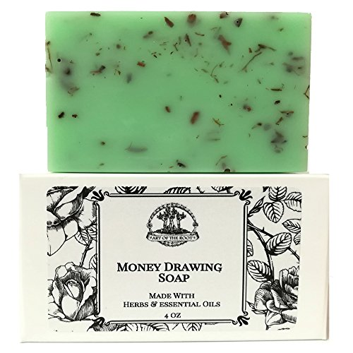 Money Drawing Shea Herbal Soap Bar Handmade For Prosperity, Wealth, FInancial Abundance & Cash Wiccan Pagan Hoodoo (Handmade Drawing)