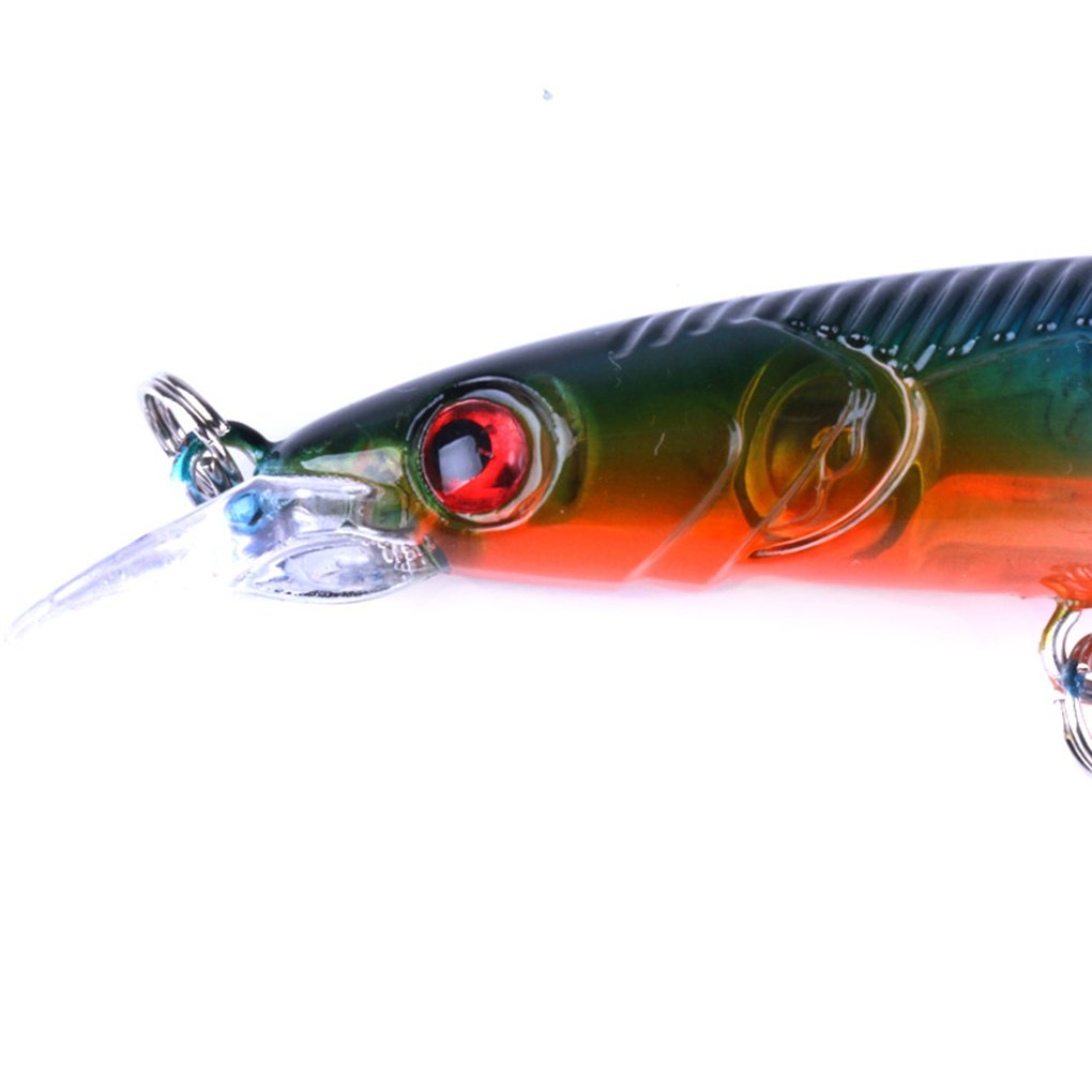Morza Naturgetreue Hart Fische Locken Angeln 9 Haken K/öder Gef/älschte Angelhaken Tackles Werkzeuge Meer See Ozean 13,3 cm Simulation Fisch