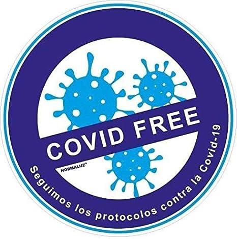 Confezione da 3 adesivi circolari 200 x 200 COVID FREE