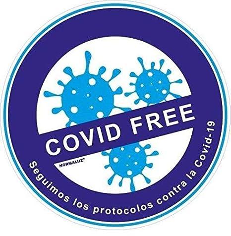 Thermodernizate Vinilo Pegatina Local desinfectado Covid-19 25X25cm 2 Unidades