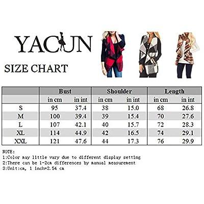 Yacun Women Vest Open Front Buffalo Plaid Sleeveless Cardigan Shawl Coat at Women's Clothing store