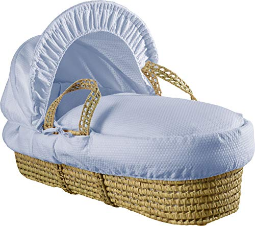 Clair de Lune Cotton Dream Palm Moses Basket with Rocking Stand