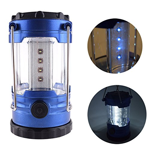 Price comparison product image 1 Pcs Glittering Fashionable 12-LED Lantern Night Light Portable Bright Reading Adjustable Switch Hiking Fishing Energy Saving Color Blue with Compass
