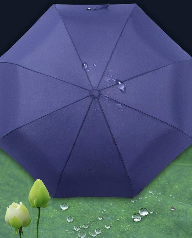 Z.L.FFLZ Umbrellas Umbrella Folding Umbrella Mens Ladies Rainy Season Measures 190T High Strength 8 Bones 3 Folds Durable Color : Red, Size : One Size