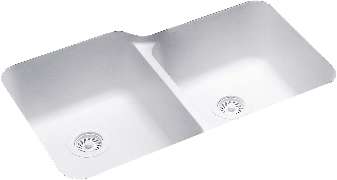 Swanstone US03015SB.010 Solid Surface Undermount Double-Bowl Kitchen Sink