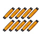 10 pcs TMHÂ 3.8' 6 LED Amber Side Led Marker, Trailer lights, Trucks, Marker lights, Rear side marker light, Trailer led marker lights, RV