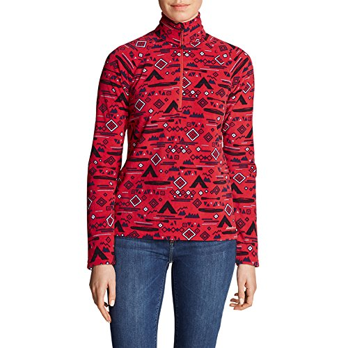 Eddie Bauer Women's Quest 1/4-Zip - Printed, Cardinal Regular M