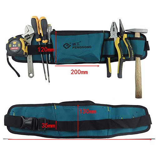 Tool Bag Waterproof Oxford Cloth Tools Pockets & Waist Belt Herramientas