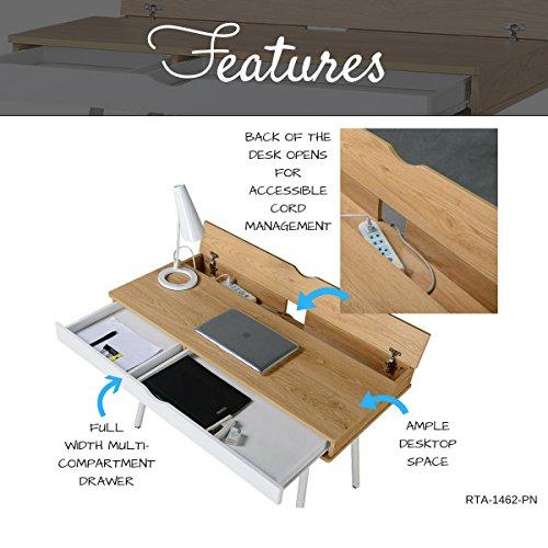 Techni Mobili Modern Computer Desk With Storage, Pine By Techni Mobili  (Image #7