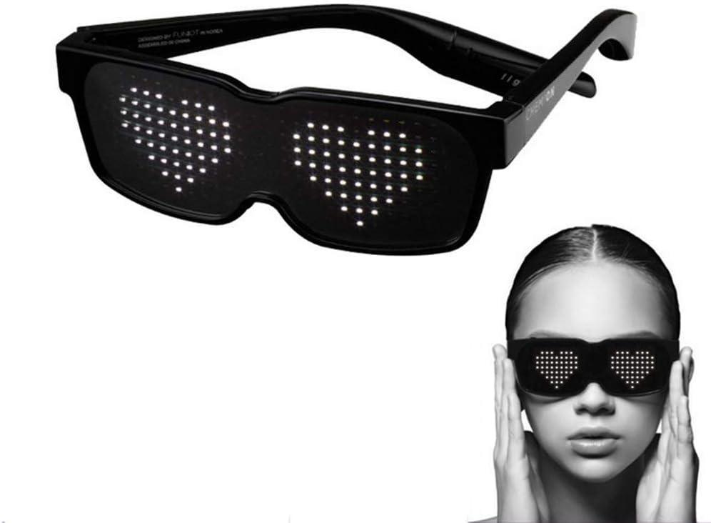 8 Modes LED Glasses Light Up Glow Sunglasses Eyewear Shades fr Nightclub Party I