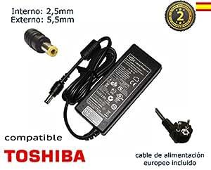 "Cargador de portátil Toshiba Satellite L500 L500-128 L500-22R L500-245 L500-1WH L500-13W L500-1UT L500-20Z L500-1TW L500-19X Alimentación, adaptador, Ordenador Portatil transformador - Marca ""Laptop Power""® (12 meses de garantía y cable de alimentación europeo incluido)"
