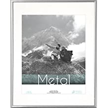 """Timeless Frames Expressions Photo Metal Wall Frame for 8 x 10"""" Photos, 11 x 14"""", Silver"""