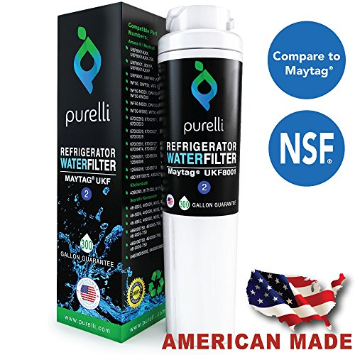 Water Filter Refrigerator Replacement For Maytag UKF8001 - Also Replaces Maytag EDR4RXD1, FILTER 4, UKF8001AXX, Whirlpool 4396395, Puriclean II, Kenmore 46 9006 by Purelli