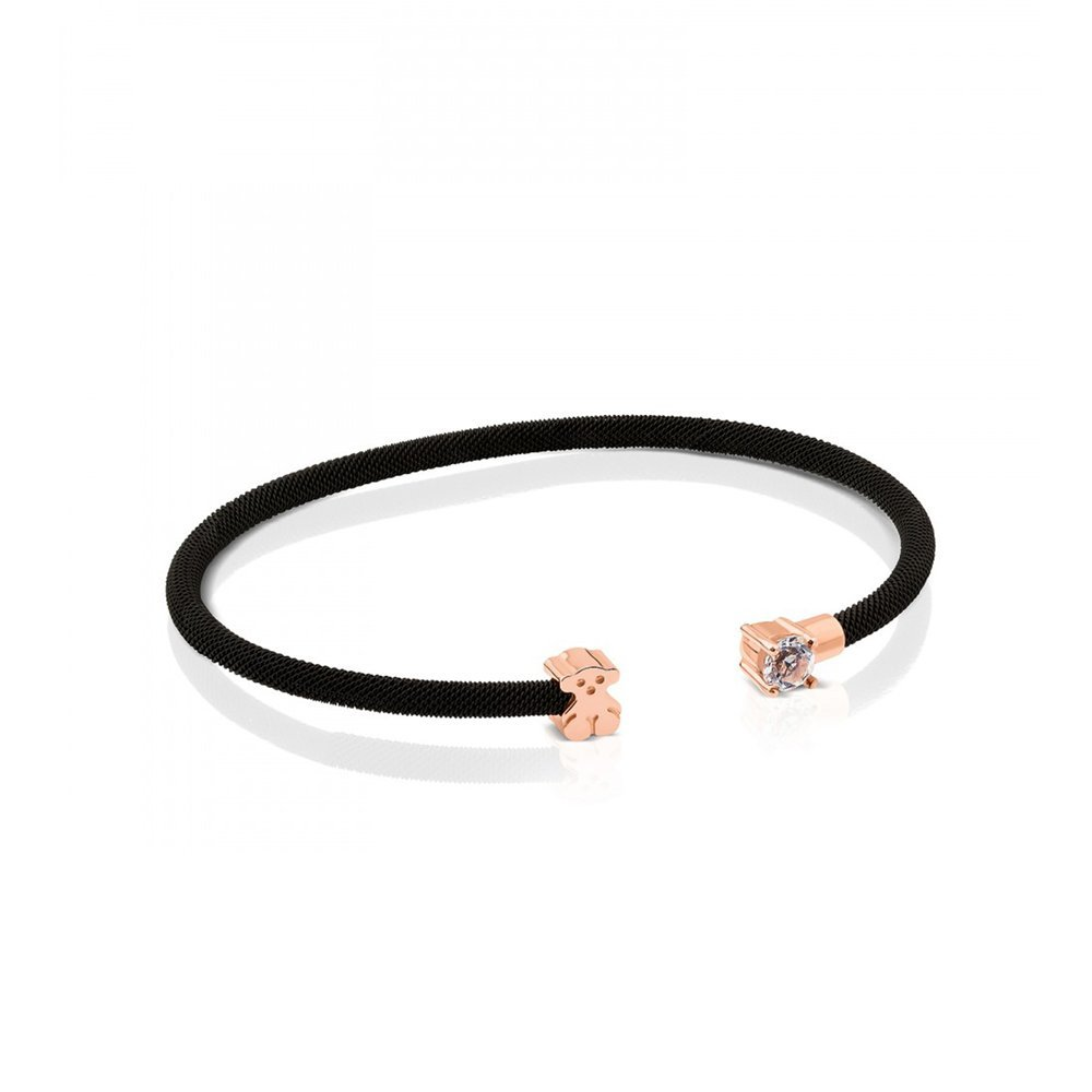 Tous Steel and Rose Vermeil Silver Eklat Bracelet with Topaz 712371500