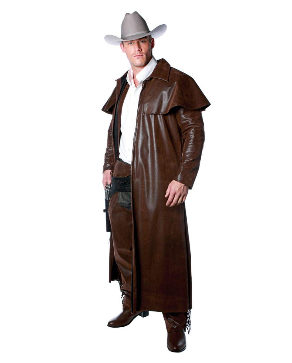 One Size HorrorShop Cowboy Costume Coat brown One Size