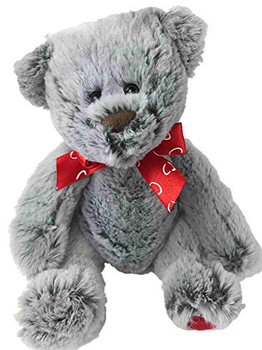 Valentine's Day Frosted Gray Teddy Bear Stuffed Animal 7