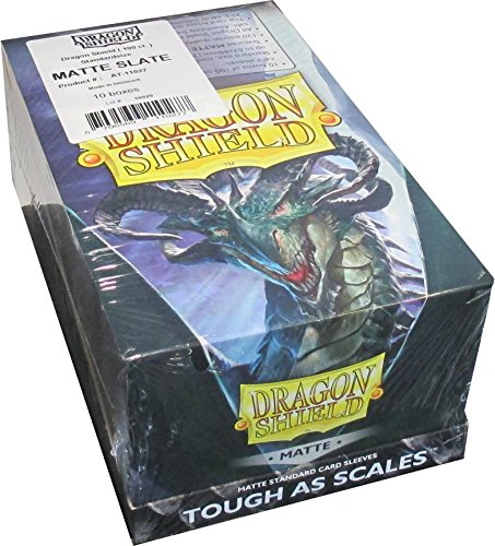 Dragon Shield Matte Slate Standard Size Card Sleeves Display Box [10 Packs]