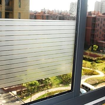 200CM Lifetree Fensterfolie Streifen Selbstklebend ohne Klebstoff 2D Statisch Folie Sichtschutzfolie 90