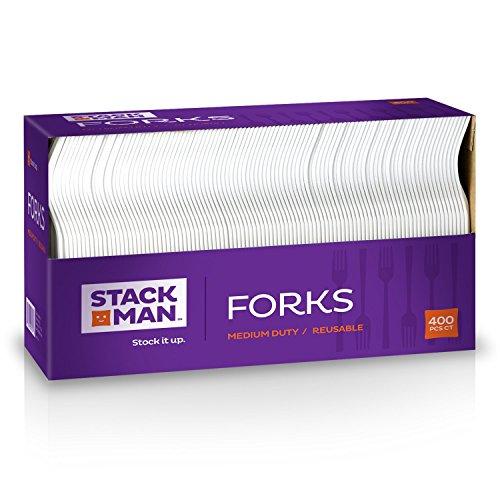 stack-man-medium-weight-plastic-forks-white-400-per-case
