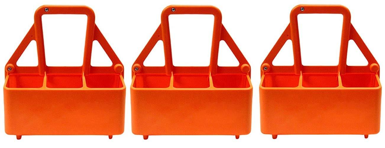 Martin Sports The Water Bottle Carrier, Plastic, Holds 6-26 OZ Bottles. (3-(Pack))