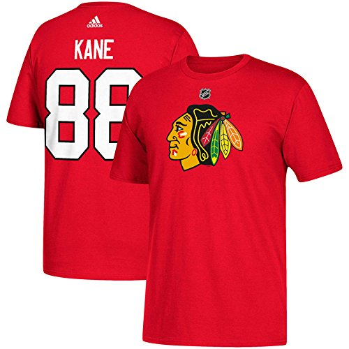 adidas Patrick Kane Chicago Blackhawks NHL Men's Red Player T-Shirt ()