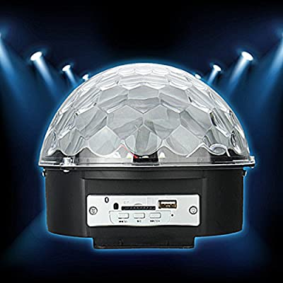 Jeteven MP3 Stage Laser Lights Ball, Crystal Magic LED Projector Spotlight with Wireless Remote Control and USB Disk Sound Activated for Disco DJ KTV Music Party Halloween Christmas Holiday