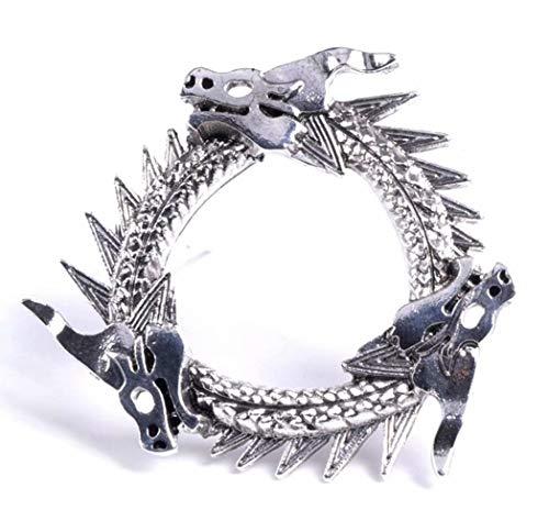 Daenerys Targaryen Unsullied Dragon Brooch Pins Halloween Cosplay Costumes]()