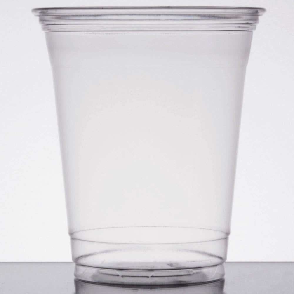 UltraClear TP12 12 oz. Clear PET Plastic Cold Cup - 1000/Case By TableTop King