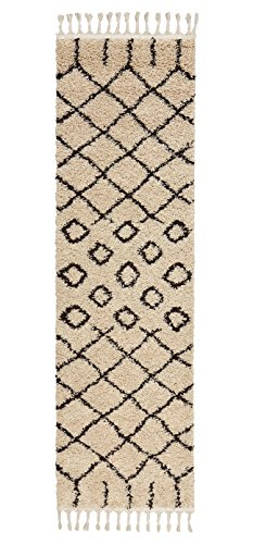 Rivet Shag Diamond Morrocan Runner, 2'2 x 8'1, - Runner Tribal Rug