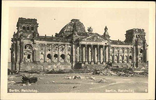 View of the Reichstag Berlin, Germany Original Vintage Postcard