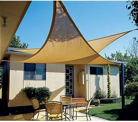 Tende da Veranda da Giardino. Impermeabile GEBIN 18 Taglie Rettangolari//Triangolare Vela Parasole per Patio Esterno Cortile Cortile Blocco Raggi UV 2 * 2 * 2m,Beige