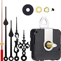 2 Pair Hands Quartz Clock Movement DIY Wall Clock Movement Mechanism Clock Repair Parts Replacement (Shaft Length 4/5 Inch/ 20 mm, Color Set 1)
