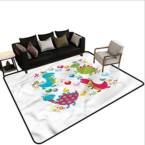 Dinosaur Party,Dining Table Rugs 60
