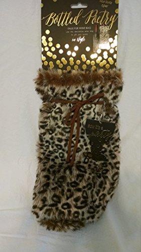 Faux Fur Wine Bag Animal Print
