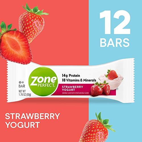 ZonePerfect Protein Bars, Strawberry Yogurt, High Protein, With Vitamins & Minerals (12 count)