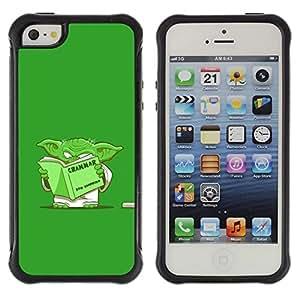Suave TPU GEL Carcasa Funda Silicona Blando Estuche Caso de protección (para) Apple Iphone 5 / 5S / CECELL Phone case / / Green Monster Cartoon Movie Alien Grammar /