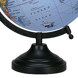 Rotating Ocean World 13 Globe Blue Decorative Geography Earth Home Decor