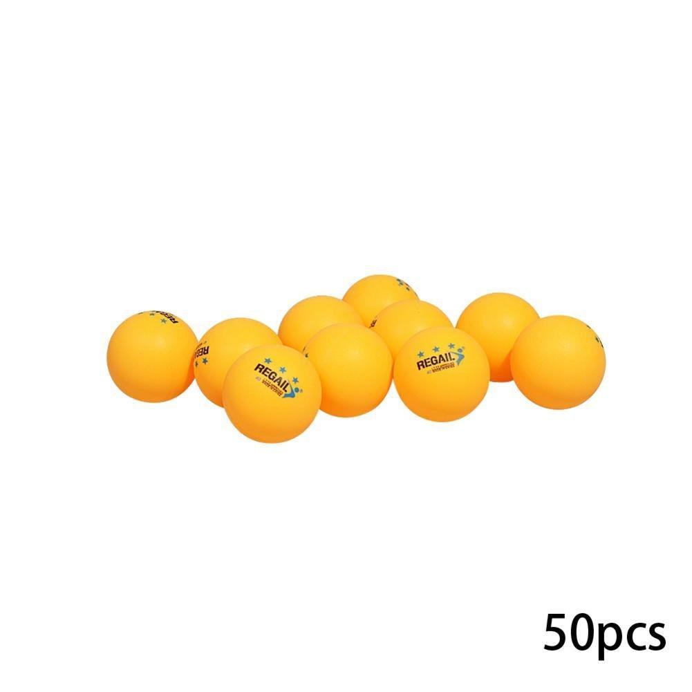 CloudWhisper 50 Stü ck Zelluloid 3-Sterne Tischtennisbä lle fü r Training weiß