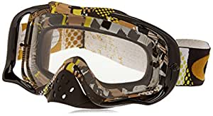Oakley Crowbar MX Mosh Pit Goggles with Gold Print Frame (White Frame/Clear Lens)